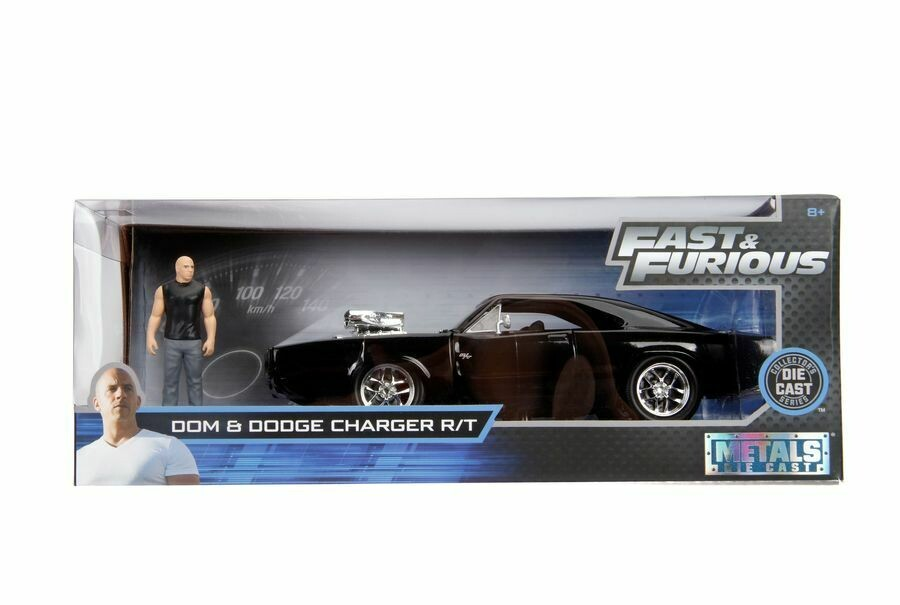 Fast & Furious - 1970 Dodge Charger 1:24 with Dom Hollywood Ride