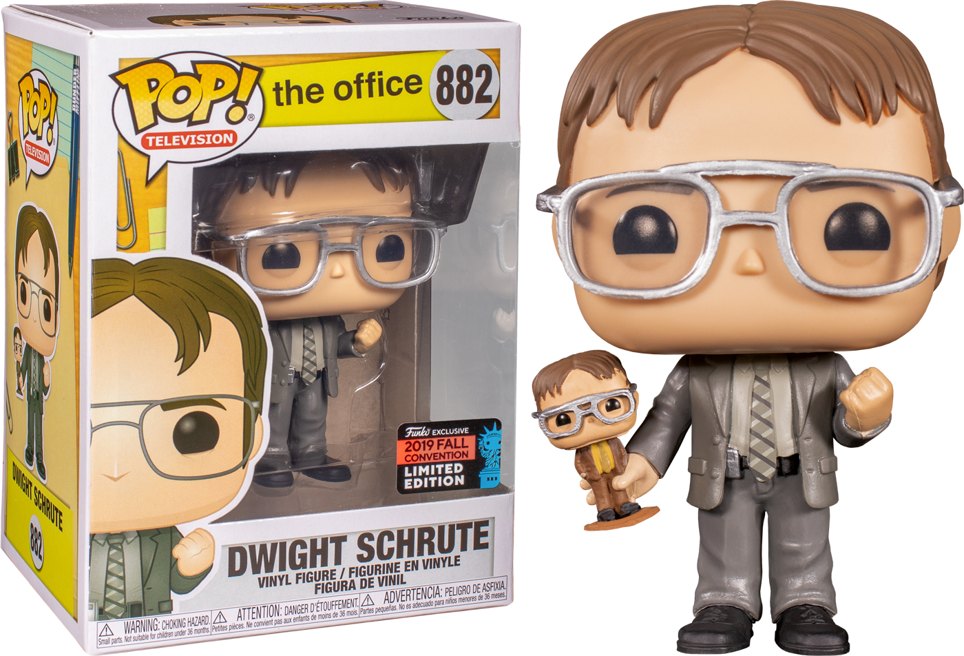 The Office - Dwight with Bobblehead NYCC 2019 US Exclusive Pop! Vinyl