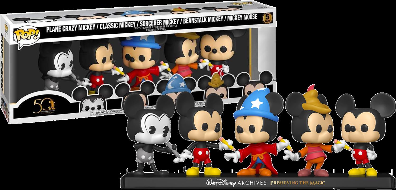Walt Disney Archives - Mickey Mouse 50th Anniversary Pop! Vinyl Figure 5-Pack