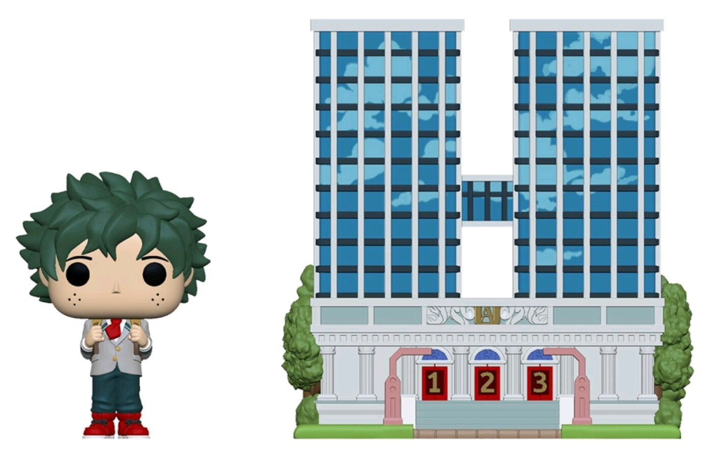 Pre-Order: My Hero Academia - Deku with UA High School Pop! Town