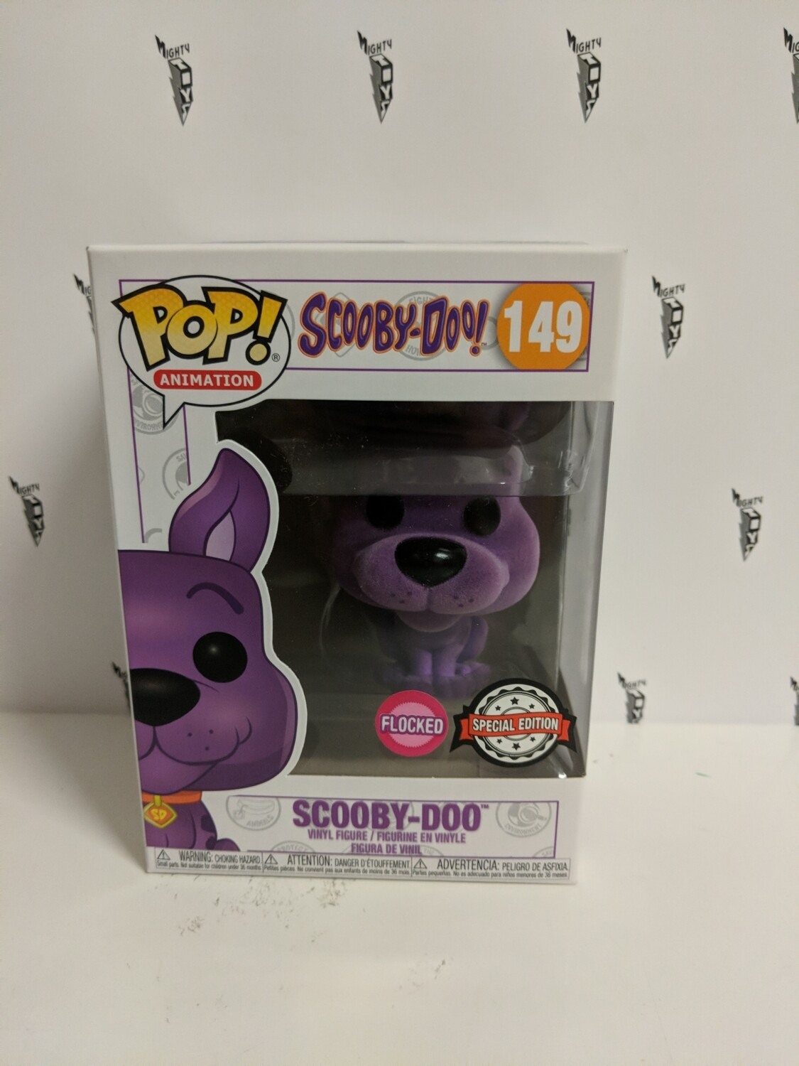 Scooby-Doo - Scooby-Doo Purple Flocked Pop! Vinyl Figure (box damaged)