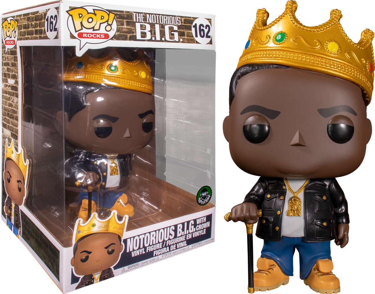 """Notorious B.I.G - Notorious B.I.G. with Crown 10"""" Pop! Vinyl Figure"""