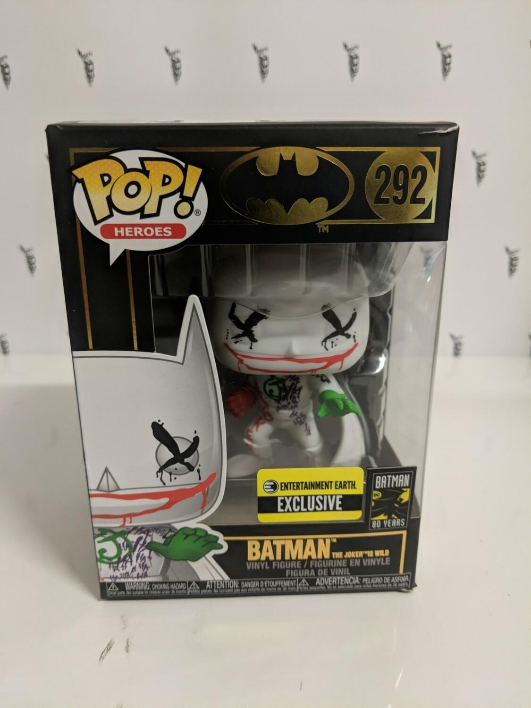 Batman Animated - Joker's Wild 80th Anniversary Pop! Vinyl ( damaged box)