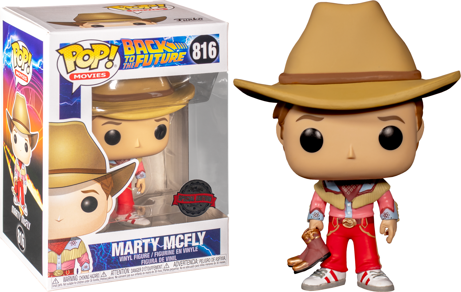 Back to the Future - Marty McFly Cowboy US Exclusive Pop! Vinyl [RS]