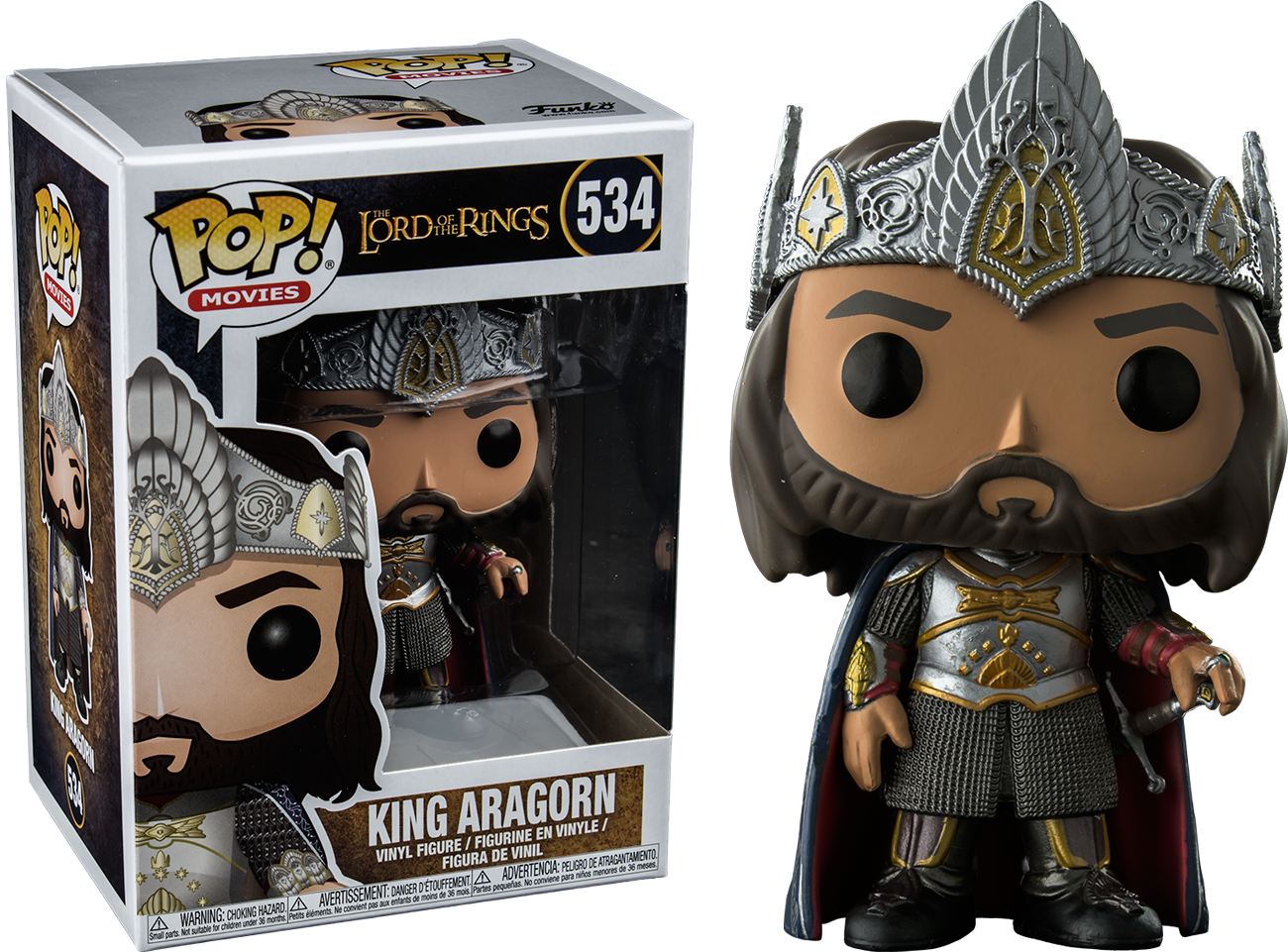 Lord of the Rings - King Aragorn Pop! Vinyl Figure