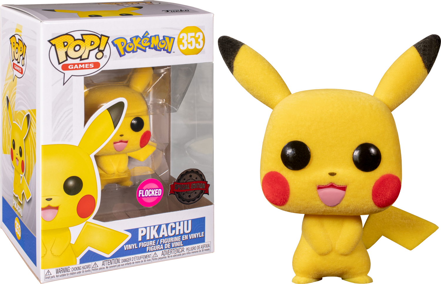 Pokemon - Pikachu (Flocked) Pop! Vinyl Figure