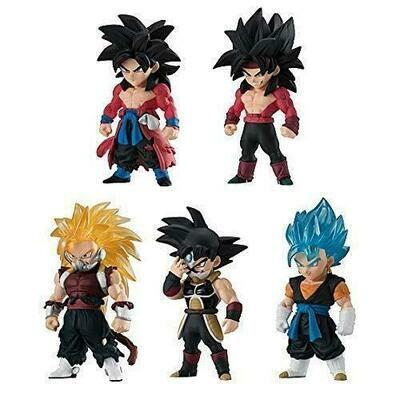 Super Dragonball Heroes Adverge Mini figure set of 5