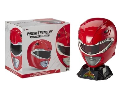Mighty Morphin Power Rangers Lightning Collection Red Ranger 1:1 Scale Wearable Helmet - Free Shipping