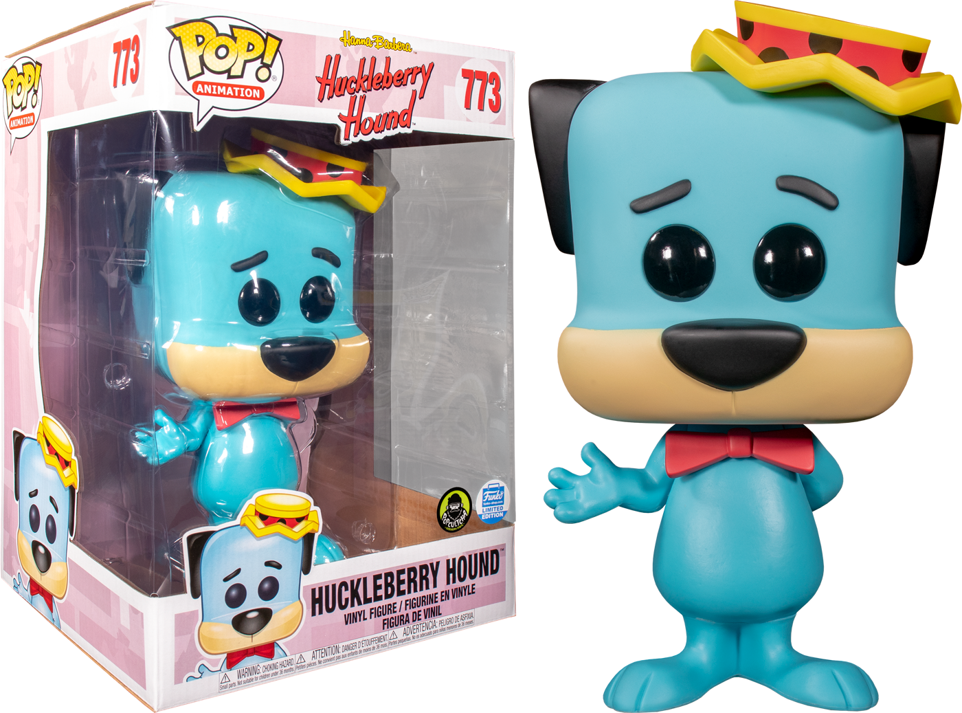 "Hanna Barbera - Huckleberry Hound 10"" Pop! Vinyl Figure (Popcultcha Exclusive)"
