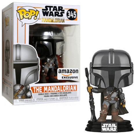Star Wars: The Mandalorian - Mandalorian Chrome Amazon Exclusive Pop! Vinyl
