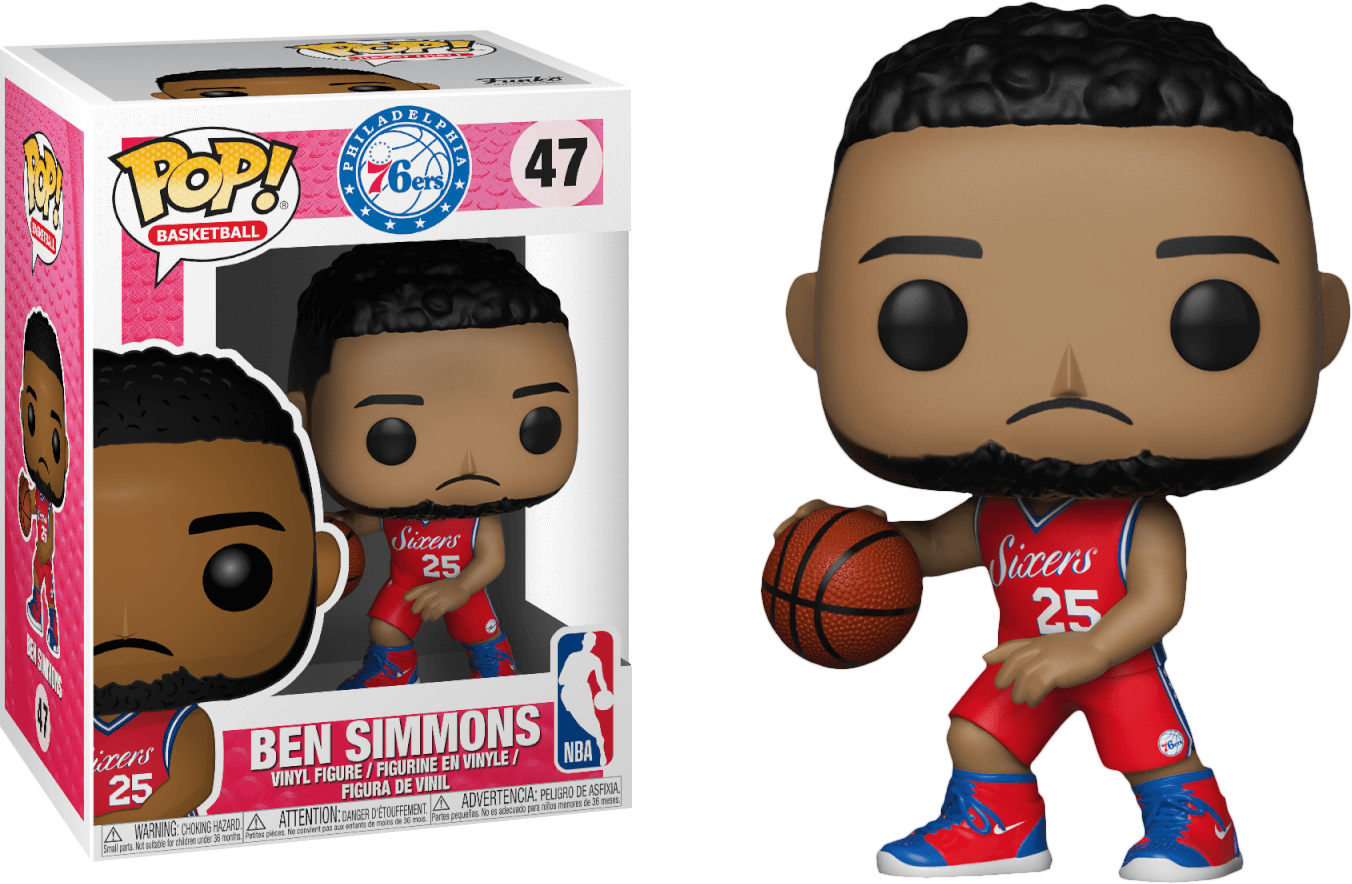 NBA Basketball - Ben Simmons Philadelphia 76ers Pop! Vinyl Figure
