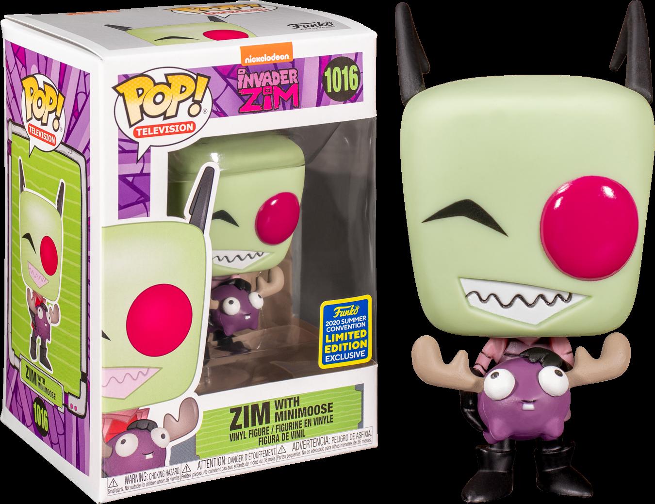 Invader Zim - Zim with Minimoose Pop! Vinyl Figure (2020 Summer Convention Exclusive)