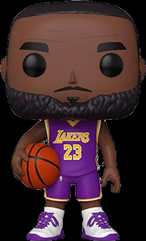 "Pre-Order: NBA Basketball - LeBron James L.A. Lakers 10"" Pop! Vinyl Figure"