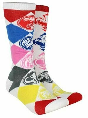 Power Rangers Pair Knee High Tube Socks