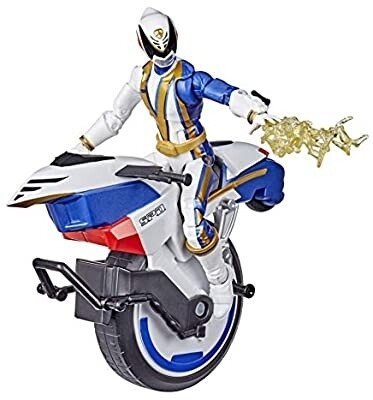 Hasbro Power Rangers Lightning Collection S.P.D. Omega Ranger and Uniforce Cycle Vehicle 6-Inch Collectible Figure