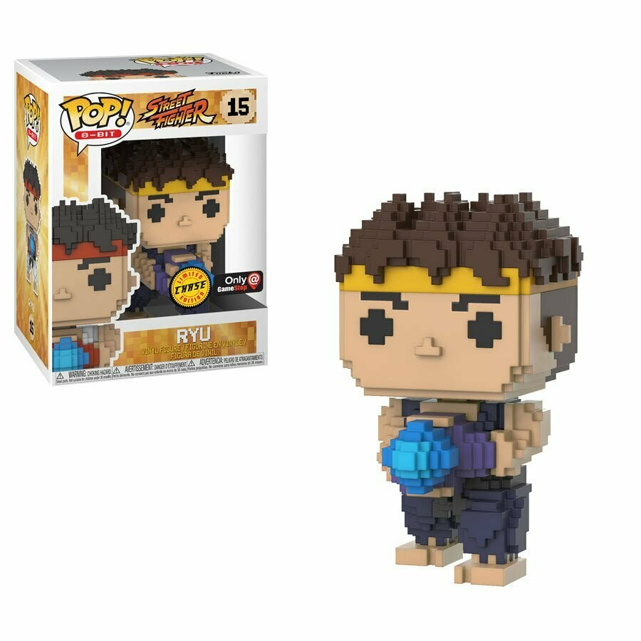 Street Fighter- Ryu (GameStop Exclusive Chase) 8-bit Pop Vinyl Figure