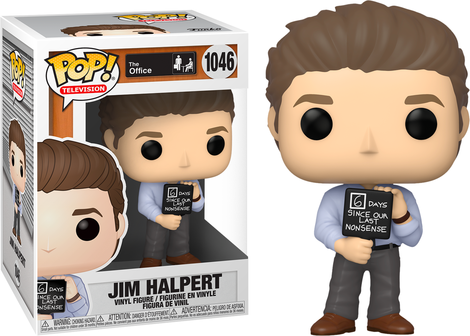 The Office - Jim Halpert with Nonsense Sign Pop! Vinyl Figure