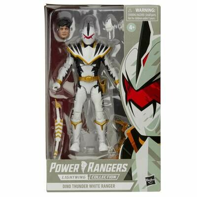 Hasbro Power Rangers Lightning Collection Dino Thunder White Ranger 6 Inch Action Figure