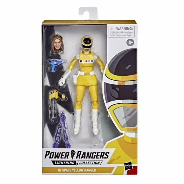 Hasbro Power Rangers Lightning Collection Yellow Ranger figure 6 Inch Action Figure In Space