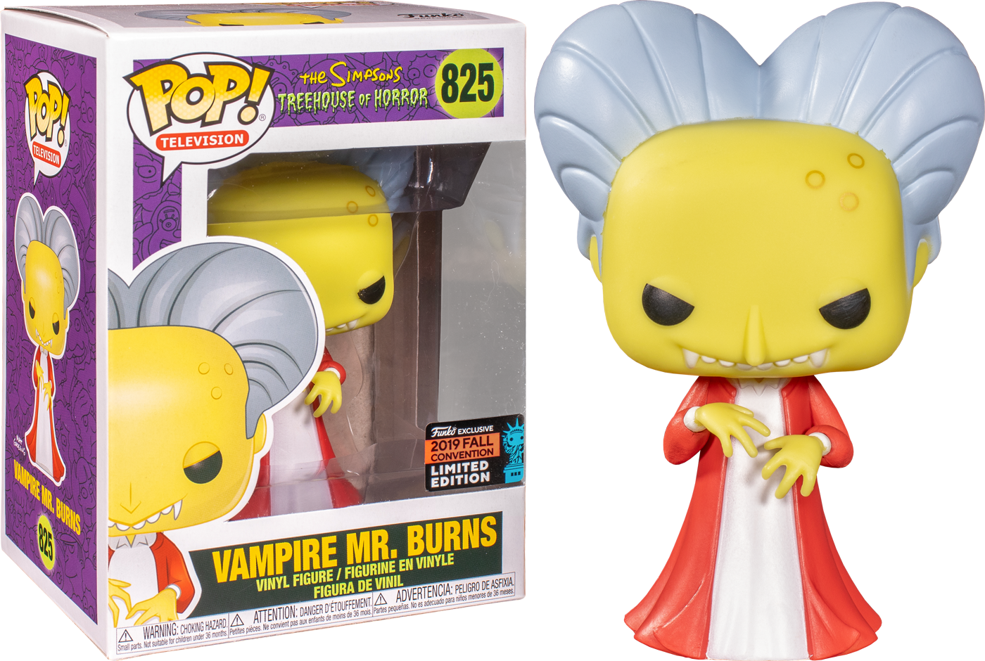 Simpsons - Mr Burns as Dracula NYCC 2019 US Exclusive Pop! Vinyl