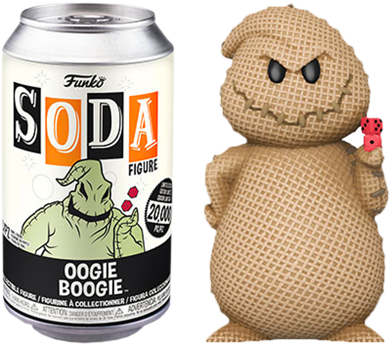 The Nightmare Before Christmas - Oogie Boogie Vinyl SODA Figure in Collector Can