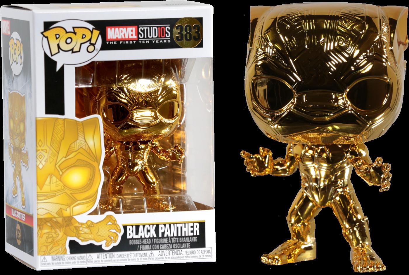 Marvel Studios: The First Ten Years - Black Panther Gold Chrome Pop! Vinyl Figure