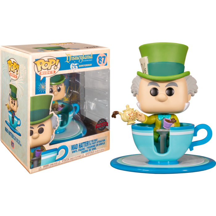 Mad Hatter  with Mad Tea Party 65th Anniversary Pop! Rides Vinyl Figure