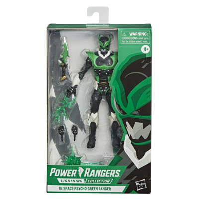 Hasbro In Space Power Rangers Psycho Green Ranger Lightning Figure
