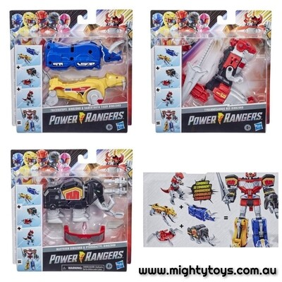 Hasbro 2020 MMPR Power Rangers Dino Megazord Complete Set of All Zords