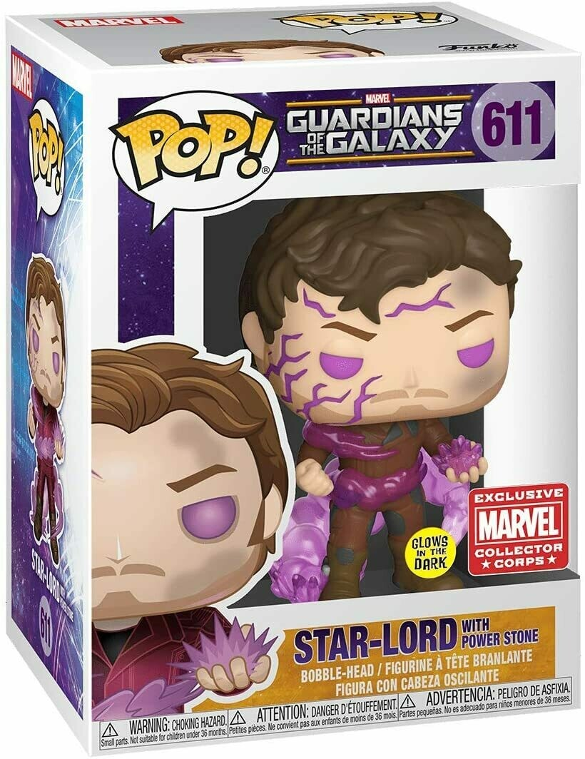 Marvel Collector Corps Exclusive Guardians of The Galaxy Star-Lord with Power Stone Pop! Vinyl Figure