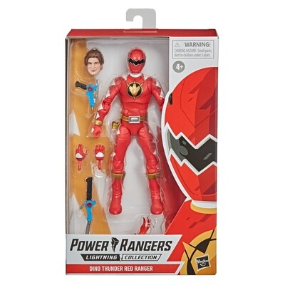 Hasbro Power Rangers Lightning Collection Dino Thunder Red Ranger 6-Inch Premium Collectible Action Figure