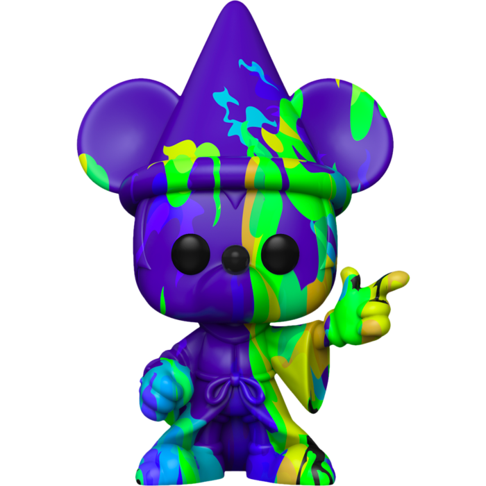​Fantasia - Sorcerer Mickey Purple & Green Artist Series 80th Anniversary Pop! Vinyl Figure with Pop! Protector