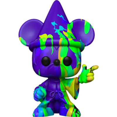 Pre-Order: Fantasia - Sorcerer Mickey Purple & Green Artist Series 80th Anniversary Pop! Vinyl Figure with Pop! Protector