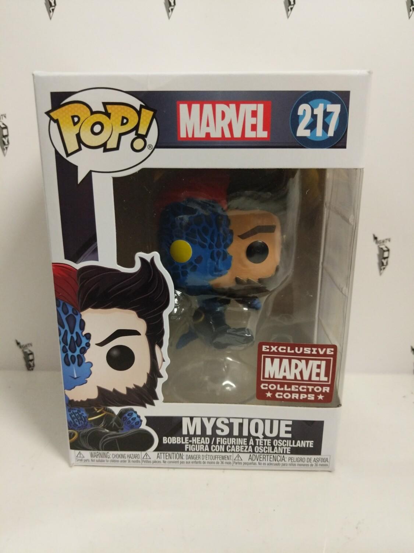 Marvel Collector Corps Exclusive Transforming Mystique #217 Pop Vinyl Figure (damaged b)