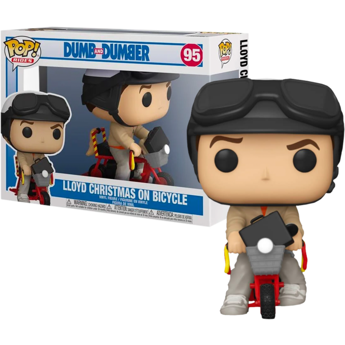Pre-Order: Dumb and Dumber - Lloyd Christmas with Bicycle Pop! Rides Vinyl Figure
