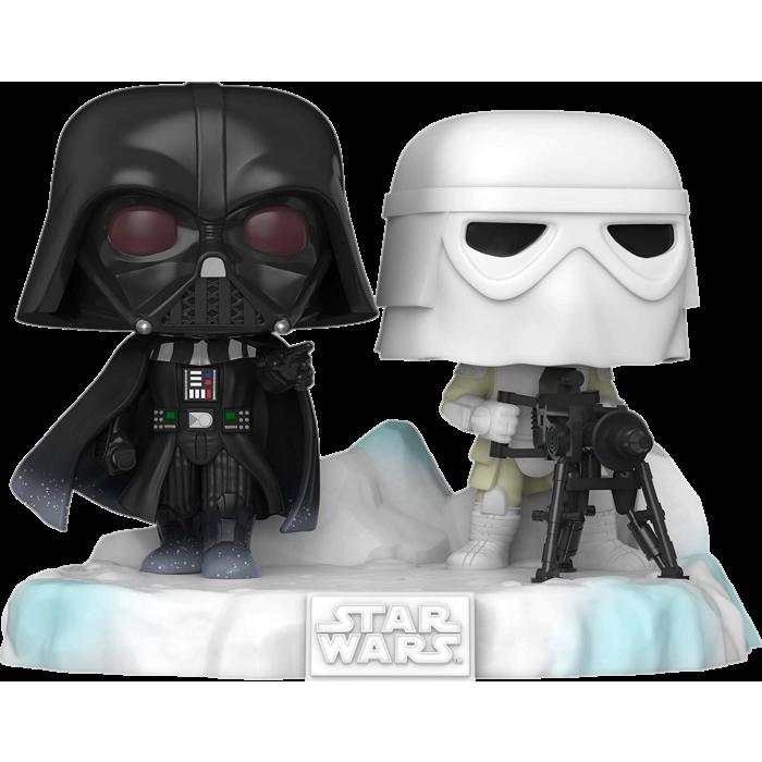 Pre-order: Star Wars Episode V: The Empire Strikes Back - Darth Vader & Stormtrooper Battle at Echo Base Deluxe Pop! Vinyl Figure