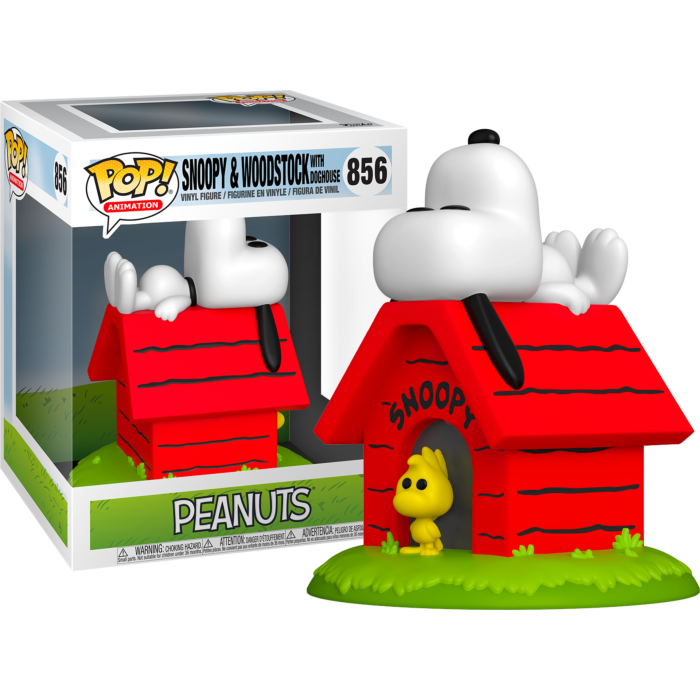 ​Peanuts - Snoopy & Woodstock with Doghouse Deluxe Pop! Vinyl Figure