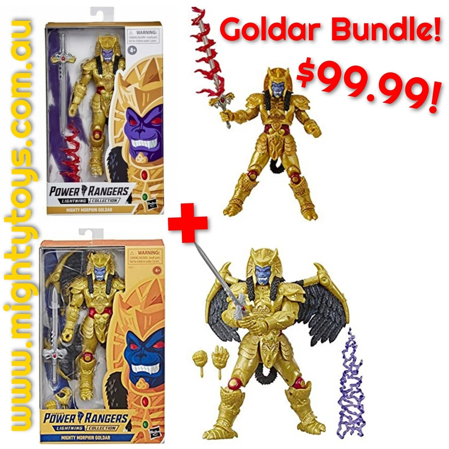 Hasbro power Rangers- goldar Bundle (set of 2)