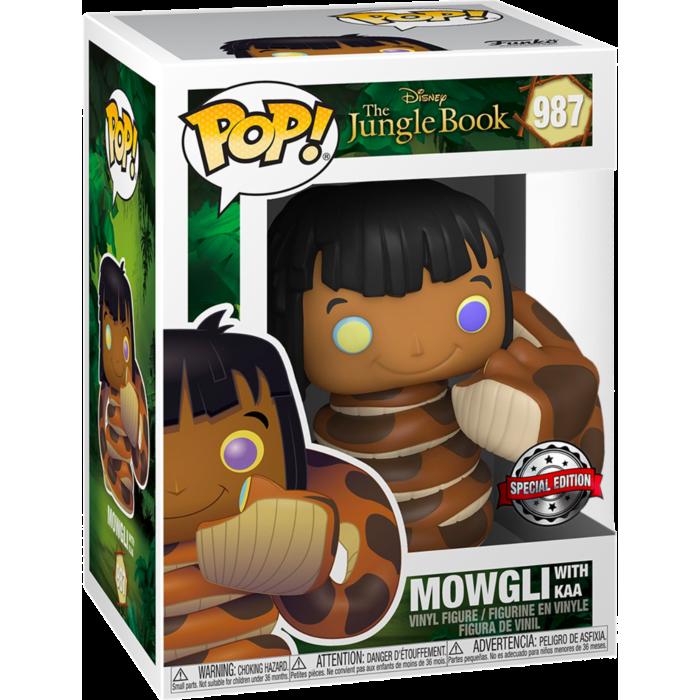 Pre-Order: The Jungle Book - Mowgli with Kaa Pop! Vinyl Figure