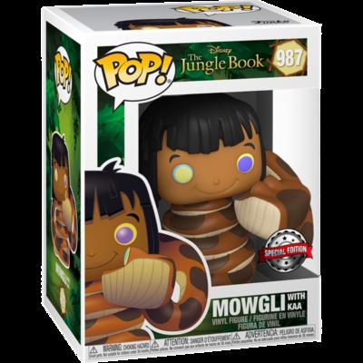 The Jungle Book - Mowgli with Kaa Pop! Vinyl Figure
