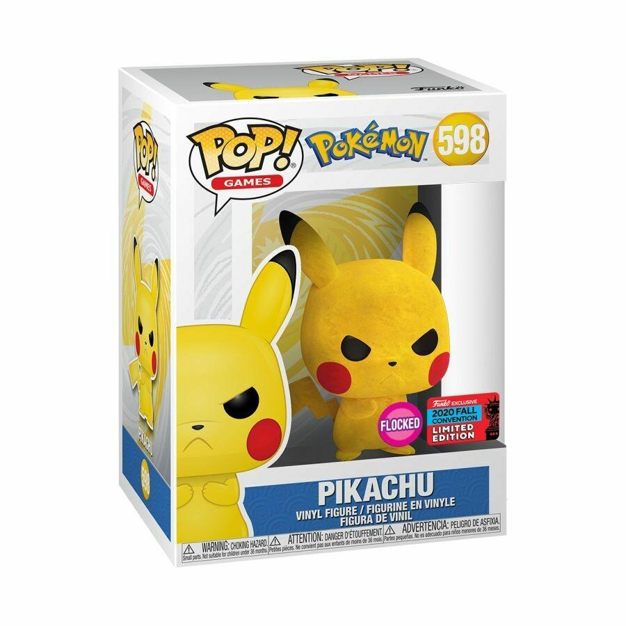 Pokemon - Pikachu Pop (Flocked) pop Vinyl Figure NYCC 2020