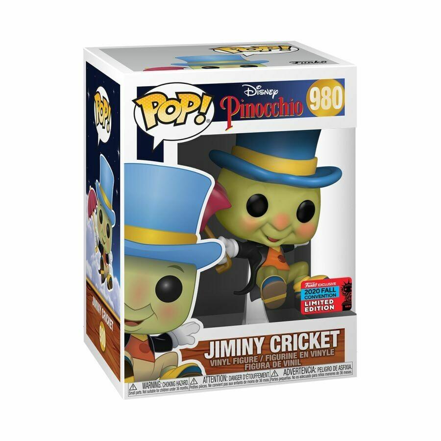 Pinocchio - Jiminy Cricket NYCC 2020 US Exclusive Pop! Vinyl Figure