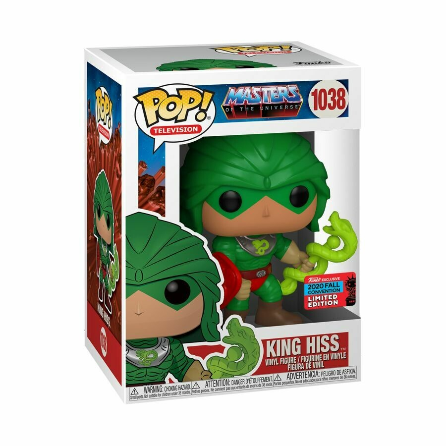 Masters of the Universe - King Hiss NYCC 2020 US Exclusive Pop! Vinyl Figure