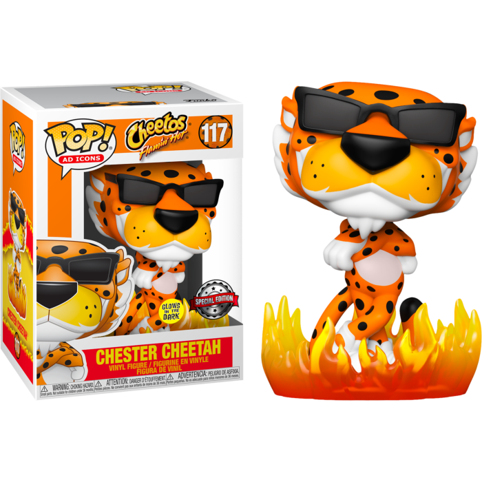 Cheetos - Chester Cheetah with Flames Glow in the Dark Pop! Vinyl Figure