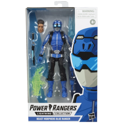 "HASBRO Saban's Power Rangers - Beast Morphers Blue Ranger Lightning Collection 6"" Action Figure"