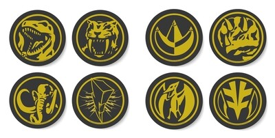 Mighty Morphin Power Rangers Coin Tusk Coaster Set of 8