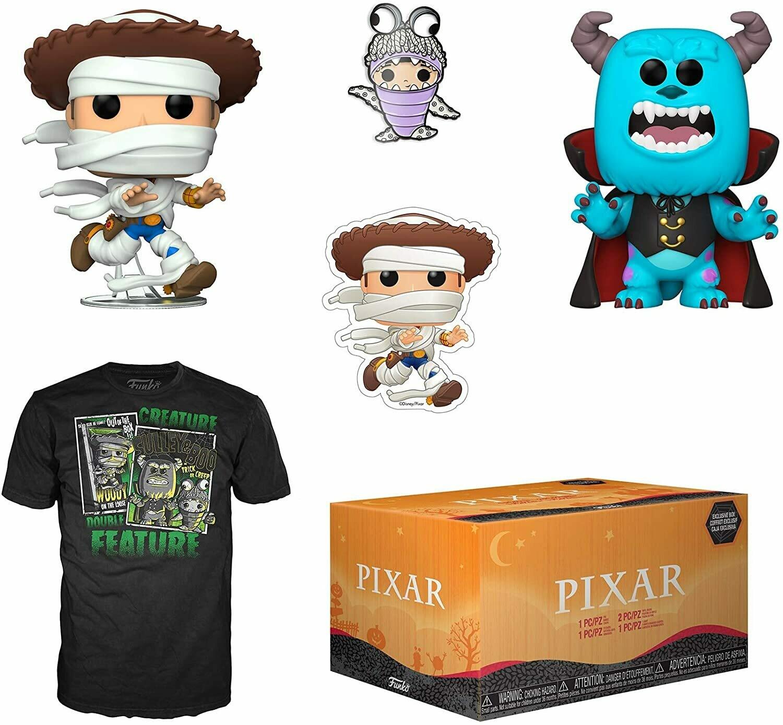 Pixar Halloween Collectors Box- Woody and Sulley Pop! Vinyl Figures