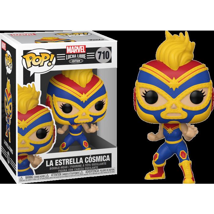 Pre-Order: Marvel: Lucha Libre Edition - La Estrella Cosmica Captain Marvel Pop! Vinyl Figure