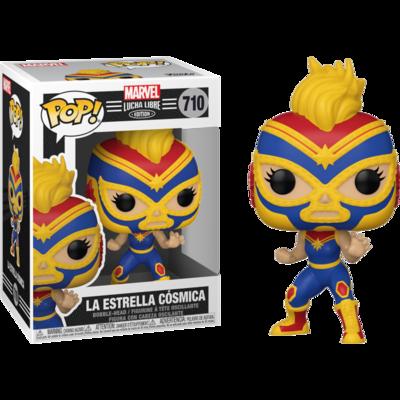 Marvel: Lucha Libre Edition - La Estrella Cosmica Captain Marvel Pop! Vinyl Figure