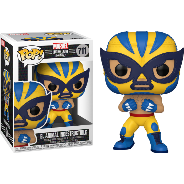 Marvel: Lucha Libre Edition - El Animal Indestructible Wolverine Pop! Vinyl Figure